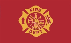 Image of   Fire Department Flag (90x150cm)