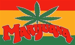 Image of   Marijuana Flag (90x150cm)