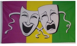 Image of   Comedy & Tragedy Flag (90x150cm)