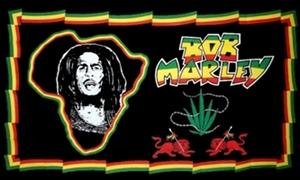 Image of   Bob Marley Africa Flag (90x150cm)