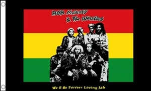 Image of   Bob Marley and The Wailers Flag (90x150cm)