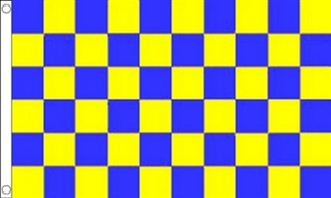 Image of   Blue and Yellow Check Flag (90x150cm)