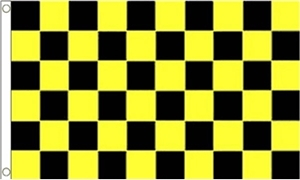 Image of   Black and Yellow Check Flag (90x150cm)