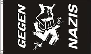 Image of   Gegen Nazis Flag (90x150cm)