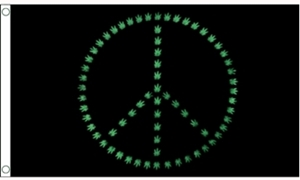 Image of   Marijuana Peace Flag (90x150cm)