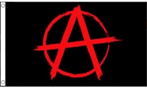 Image of   Anarchy Red Flag (90x150cm)