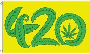Image of   Marijuana 420 Flag (90x150cm)