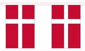 Image of   Dannebrog Guirlander 3m (10 flag)