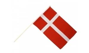 Image of   Dannebrog Håndholdt Papirflag (20x27cm)