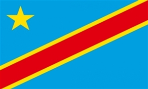 Image of   Demokratiske Republik Congo Flag (90x150cm)