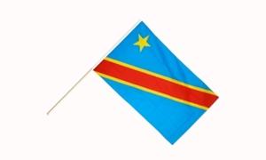 Image of   Demokratiske Republik Congo Håndflag (15x22cm)