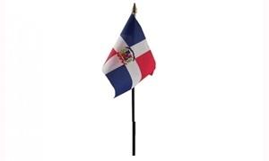 Image of   Dominikanske Republik Håndflag (10x15cm)