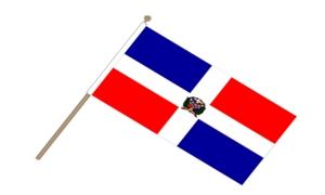 Image of   Dominikanske Republik Håndflag (15x22cm)