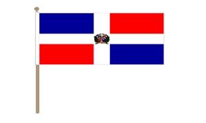Image of   Dominikanske Republik Håndflag (30x45cm)