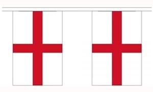 Image of   England Guirlander 9m (30 flag)