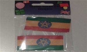 Image of   Etiopien med Stjerne Kageflag (30x48mm)