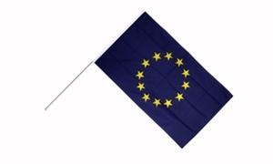 Image of   Europæiske Union Håndholdt Papirflag (20x27cm)
