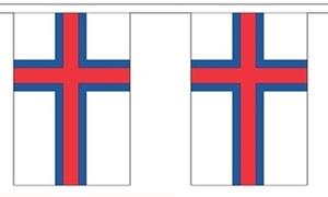 Image of   Færøerne Guirlander 9m (30 flag)