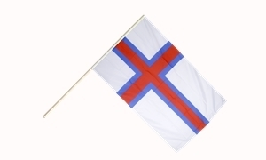 Image of   Færøerne Håndholdt Papirflag (20x27cm)