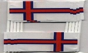 Image of   Færøerne Kageflag (30x48mm)