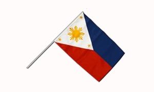 Image of   Filippinerne Håndflag (15x22cm)