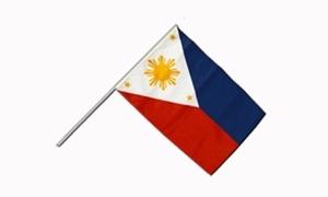 Image of   Filippinerne Håndholdt Papirflag (20x27cm)