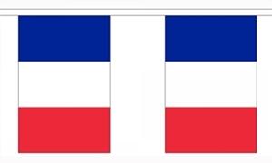 Image of   Frankrig Guirlander 3m (10 flag)