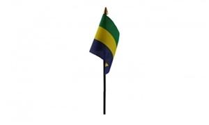 Image of   Gabon Håndflag (10x15cm)