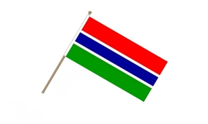 Image of   Gambia Håndflag (15x22cm)