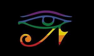 Image of   Gay Goth Pride Flag (90x150cm)