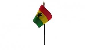 Image of   Ghana Håndflag (10x15cm)
