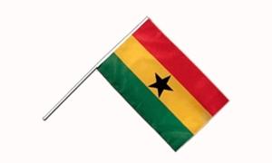 Image of   Ghana Håndflag (15x22cm)
