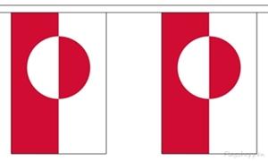 Image of   Grønland Guirlander 3m (10 flag)