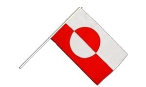 Image of   Grønland Håndholdt Papirflag (20x27cm)