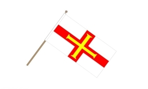 Image of   Guernsey Håndflag (15x22cm)