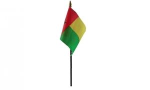 Image of   Guinea-Bissau Håndflag (10x15cm)