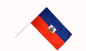 Image of   Haiti Håndflag (15x22cm)