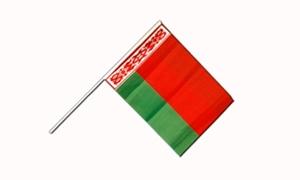 Image of   Hviderusland Håndflag (15x22cm)