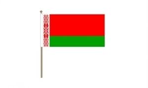 Image of   Hviderusland Håndflag (30x45cm)