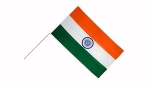 Image of   Indien Håndholdt Papirflag (20x27cm)