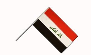 Image of   Irak Håndflag (15x22cm)
