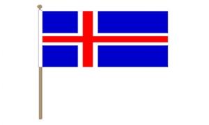 Image of   Island Håndflag (30x45cm)