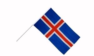 Image of   Island Håndholdt Papirflag (20x27cm)