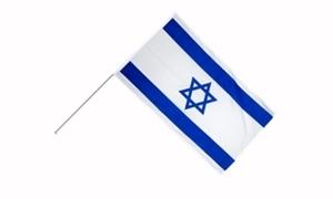 Image of   Israel Håndholdt Papirflag (20x27cm)