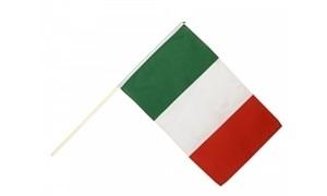 Image of   Italien Håndholdt Papirflag (20x27cm)