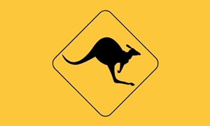 Image of   Kangaroo Sign Flag (90x150cm)