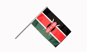 Image of   Kenya Håndflag (15x22cm)