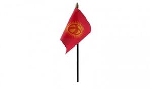 Image of   Kirgisistan Håndflag (10x15cm)