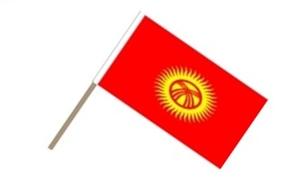 Image of   Kirgisistan Håndflag (15x22cm)