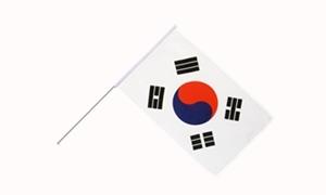Image of   Korea, Syd Håndflag (15x22cm)